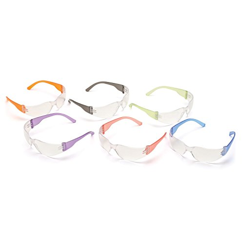 pyramex-s4110smp-intruder-safety-glasses-12-pack-clear-lens-with-assorted-temple-colors