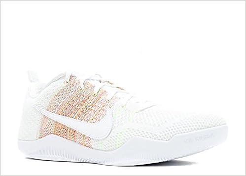 best sneakers efeb5 c6d13 NIKE Men s Kobe XI Elite Low 4KB, 4KB-White Multi-Color-Multi-Color, 8.5 M  US Shoes