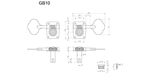 【国内正規品】 GOTOH ゴトー ベース用ペグ GB10 L4 B   B0714QZ17Y