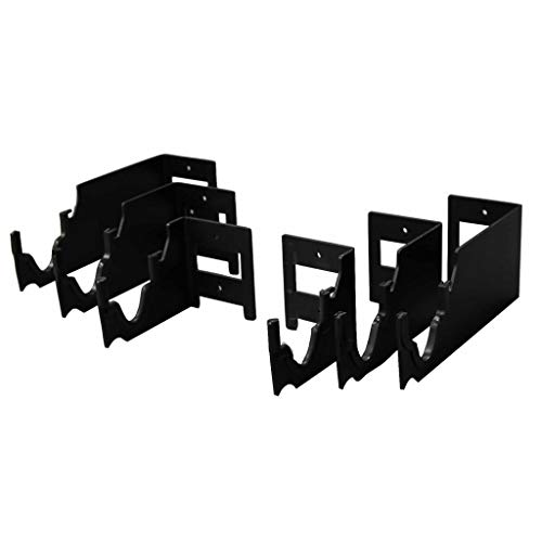 Secure It Gun Storage Horizontal Display Mount -Trio Kit: 3 Display Tiers on a Modular System, Scratch Protection for Guns, Heavy Duty Steel with Black Powder Finish