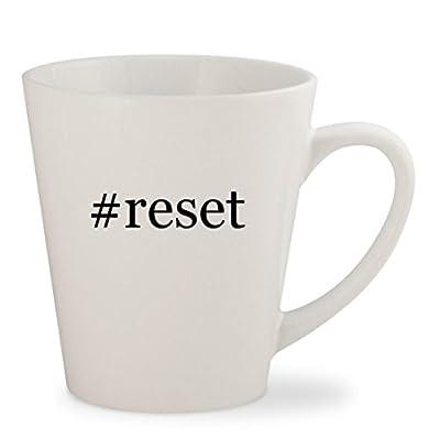 #reset - White Hashtag 12oz Ceramic Latte Mug Cup