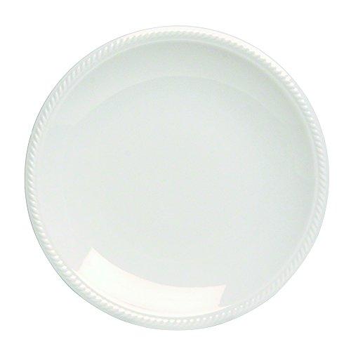 Tognana 27 cm Aluminum Lido Shore Dinner Plate, Off-White