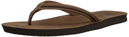 Reef Cushion Bounce Swing Leather Flip Flops for Women, Tobacco, 10 M US