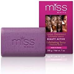 Fair & White Miss White Beauty Active Exfoliating Soap, 200g / 7oz