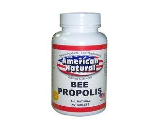 American Natural Bee Propolis 500 mg 60 caps Antibiotic Immune Support
