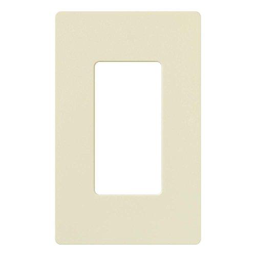 Decorator Style 2 Connector Plate - Lutron Deep Back Cover Claro Wallplate 1 GNG AL Almond (CW-1-AL)