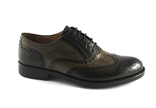 Élégant Brun Cuir En Melluso Derby Chaussures Anglais U81121 Homme Chocolat Spacium Marron vqZfqw