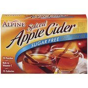 Alpine Spiced Apple Cider Sugar Free Instant Drink Mix, 10 Ct(Case of 2) - Hot Spiced Cider