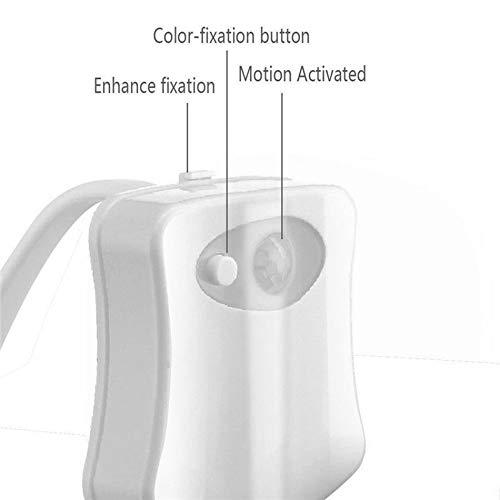 Sensor de movimiento inteligente activado luz de la noche del inodoro LED luz de emergencia 8 colores de la l/ámpara de inducci/ón humana para el ba/ño casero