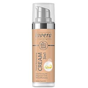 lavera 3en1 Tinted Moisturising Cream Q10 -Honey Sand 03- Crème hydratante teintée ∙ Vegan Cosmétiques naturels Make up Ingrédients végétaux bio 100% Naturel Maquillage (30 ml)