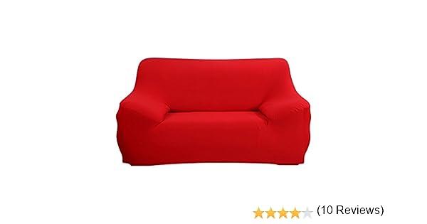 SHANNA Funda de sofá 1 2 3 4 Funda de sofá Funda de Asiento Antideslizante sofá sofá sofá elástico Tejido Protector por, Rojo, 2-Seater Chair + 1pcs ...