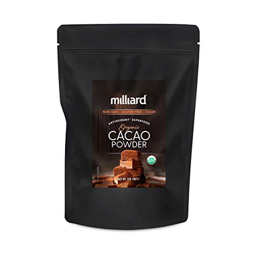 Milliard Raw Organic Cacao Powder | Non-GMO and Gluten Free | 2 lbs.