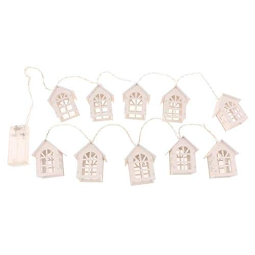 H+K+L 1.5M 10 LED European House Shaped String Light, Battery Powered Decoration Fairy Light - Perfect for Home, Party, Wedding,Festivals (Warm White) by H+K+L (Image #6)