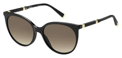 Max Mara Design Iii/S 0QFE Black Rose Gold JD brown gradient lens - Sunglass Maxmara