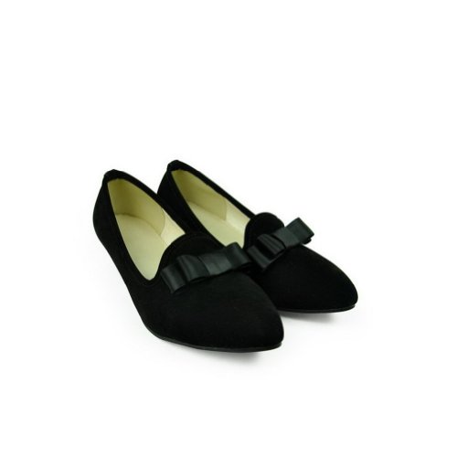Toe with Low Black Pumps Solid US Closed 5 Women's Bowknot Shape Cone 5 Frosting Pointed M WeenFashion Heels PU B 6Rn7twP0q