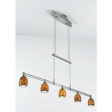 Holtkoetter 5515 HBOB G5036 Halogen Low-Voltage Contemporary Chandelier, Hand-Brushed Old Bronze with Berchtesgaden Glass, 9