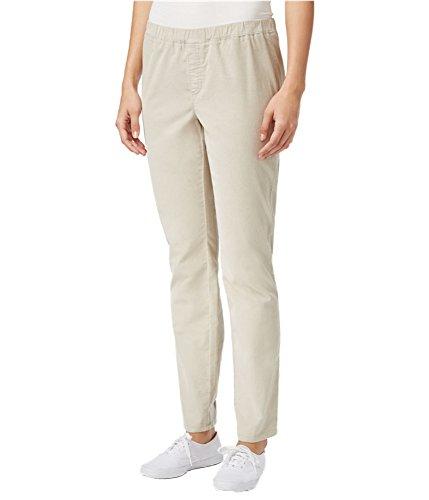 Karen Scott Womens Petites Comfort Waist Straight Leg Corduroy Pants Beige PS -