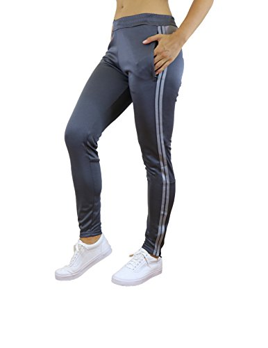 Galaxy by Harvic Ladies Soccer Athletic Training Sweat Track Pants