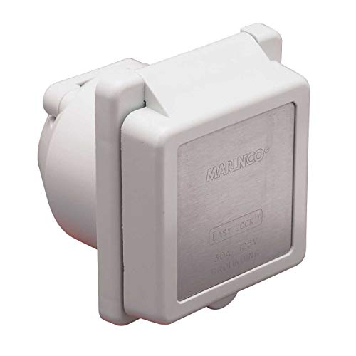 Marinco 301EL-B 30A Power Inlet - White - ()