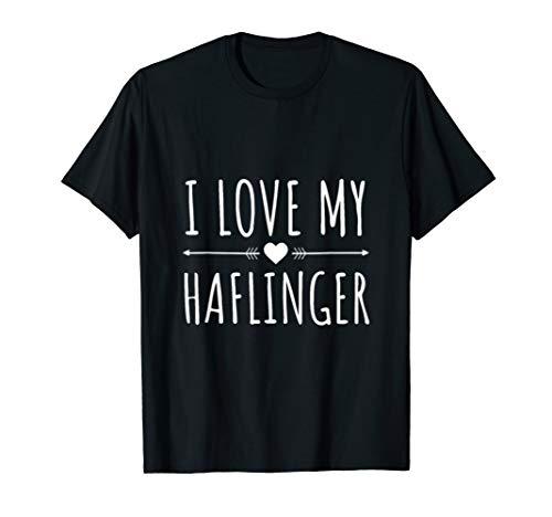 (I love Haflinger Horse Liebe Race Reiten T-Shirt)