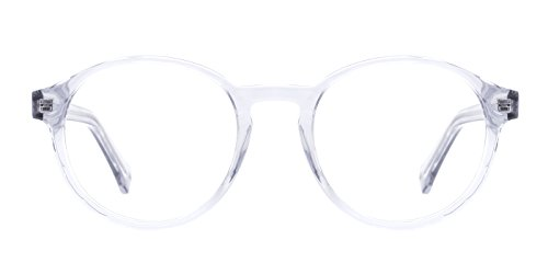 TIJN Acetate Translucent Clear Glasses Frames Eyeglasses for - Frames Female Eyeglasses