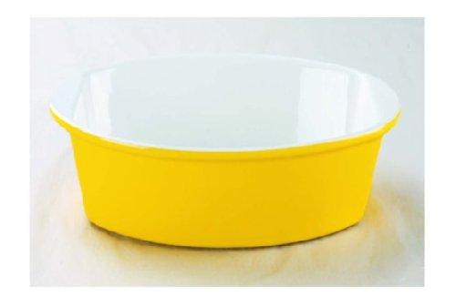 Yellow Oval Baking Dish - Oval Grantin Ceramic Bake Ware (12 inch, yellow)