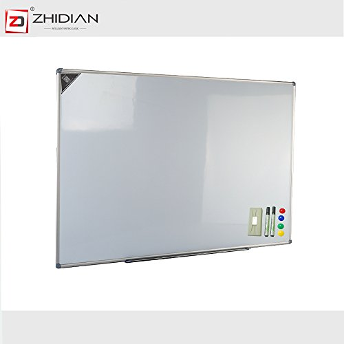 ZHIDIAN Magnetic White Board /Dry Erase Boards 36x56 Inches Silver Aluminium - 56 Co