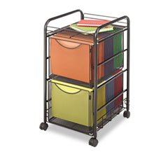 SAF5212BL - Safco Onyx Double Mesh Mobile File Cart by Safco