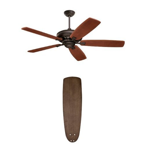 Emerson CF788ORB Carrera Grande Eco Energy Star Indoor/Outdoor Ceiling Fan with  Emerson G54RW Accessory Blades, 22-Inch, River Wash by