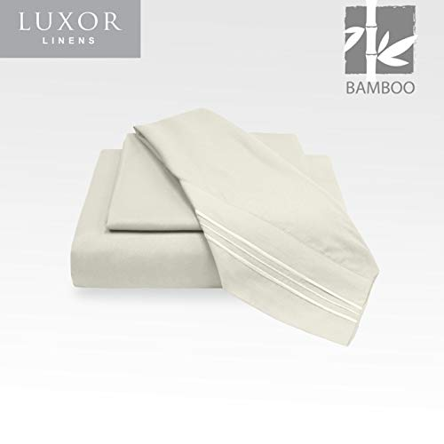 Luxor Linens Microfiber Queen Sheets - 4pc Set (2 Pillowcases, 1 Fitted Sheet, 1 Flat Sheet) - 18 inch Deep Pockets - Premium Hotel Quality, Soft, Luxurious & Hypoallergenic (Queen, ()