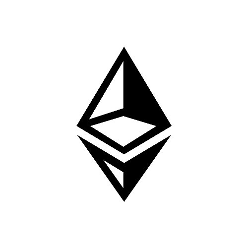 Ethereum Sybol (Design #1) Vinyl Die-Cut Decal Sticker for Car, Notebook, Computer, Window or Wall (5″x3.1″, black)