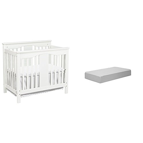 Annabelle 2-in-1Mini Crib and Twin Bed with Complete Mini Mattress with Hypoallergenic Waterproof Cover by DaVinci