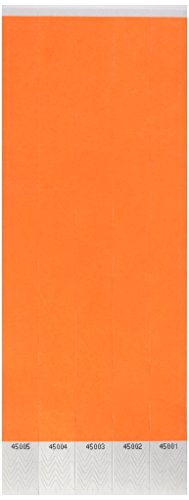 Tyvek Wristbands (neon orange) (100/Pkg) -