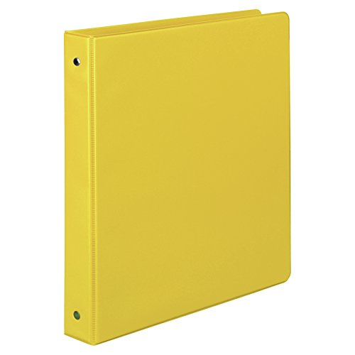 (Samsill 1 Inch Value Document Storage 3 Ring Binder, Round Ring, 11 x 8.5 Inches, Yellow (11306))