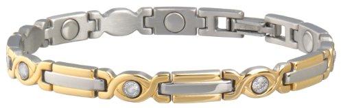 Sabona Lady Executive Two-Tone Gem Magnetic Bracelet, Medium, Outdoor Stuffs