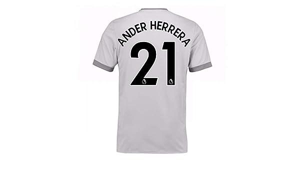 Amazon.com   2017-2018 Man United Third Football Soccer T-Shirt Jersey  (Ander Herrera 21)   Sports   Outdoors 850b7080d