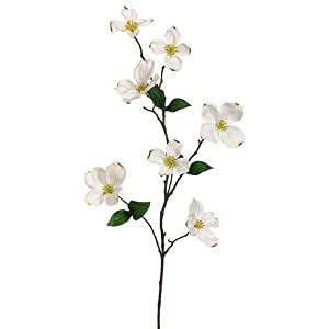 "Afloral Dogwood Silk Flowers in Cream - 29"" Tall 101"