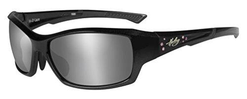 Harley-Davidson Womens Rhinestone Lace Sunglasses, Gray Lens/Black Frame - Women's Sunglasses Harley Davidson