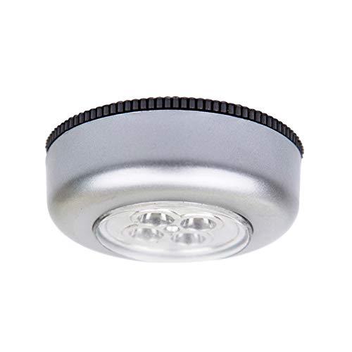 Luz de clóset con sensor de movimiento, 3LED/4 LED, inalámbrica, funciona con pilas, luz nocturna LED con almohadillas para...