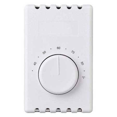 Line Voltage Mechanical Thermostat, Commercial and Residential, 120 to 240VAC ()