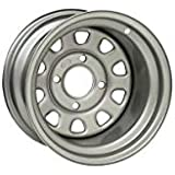 "ITP Delta Steel Silver Wheel with Machined Finish (12x7""/4x110mm)"
