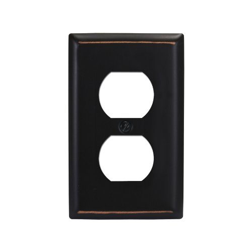 Amerelle 75DVB Madison 1 Duplex Wall plate, Aged Bronze