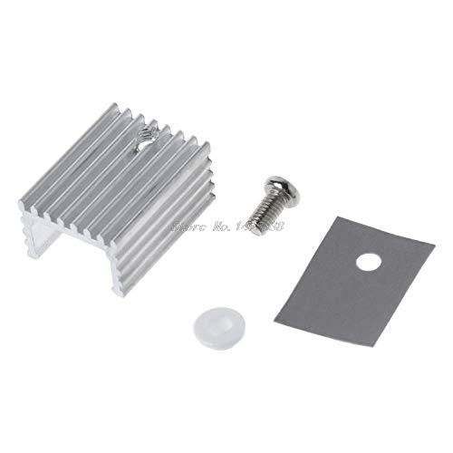 FENGYI 10pcs TO-220 Cooling Radiator Aluminum Sheet Heatsink Transistor Heat Sink Cooler Radiator Cooling for PC Computer Components