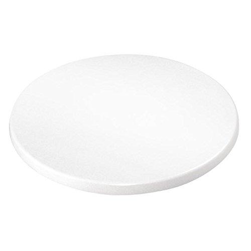 Bolero Round Table Top White 30X600mm Wood Kitchen Restaurant Cafe Dining Nisbets 3245