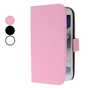 Solid Color Simple Design PU Leather Full Body Case for Samsung Galaxy Note 2 N7100 (Assorted Colors) --- COLOR:Black
