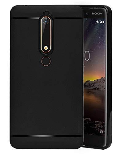 buy popular c0622 5e1eb ECellStreet Silicon Soft Back Cover Protective Case for Nokia 6 (2018) /  Nokia 6.1 (Black)