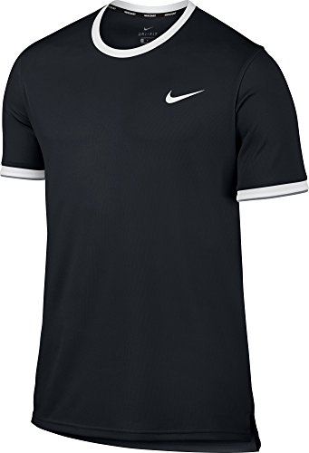 NIKE New Men's NikeCourt Dry Tennis Top Black/White XL