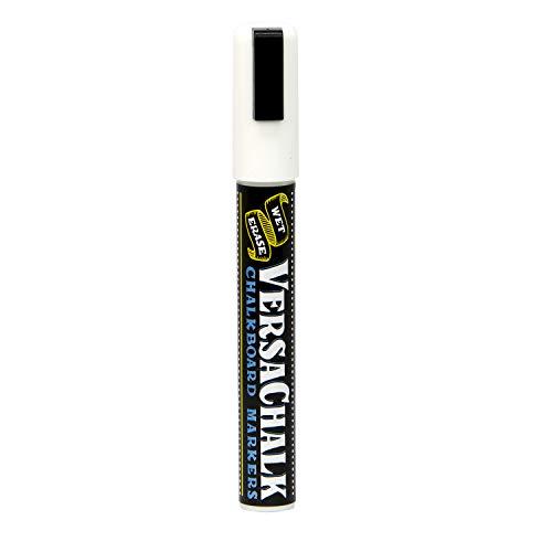 White Liquid Chalk Markers by VersaChalk - For Chalkboard Signs, Blackboards, Glass, Windows (Bold 1 Marker) ()