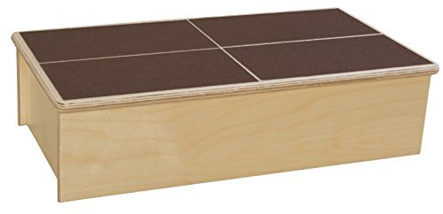 Wood Designs 990360BN Step Stool with Brown Tread, Natural Baltic Birch Plywood ()