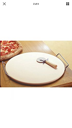 15 inch Ceramic Pizza Stone Set